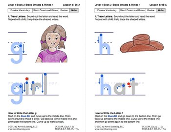 Blend Onsets and Rimes 1: Lesson 8, Book 2 (Newitt Prereading Series)
