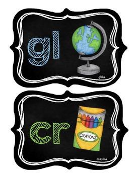 Classroom Phonics Posters {chalkboard theme}