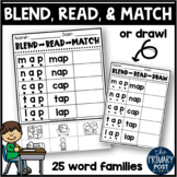 Blend Read and Match Word Families/CVC Words