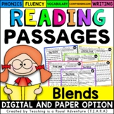 Blend Reading Passages - Fluency and Skill Based Comprehension Notebook
