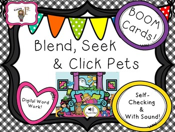 Blend, Seek and Click Pets BOOM Task Cards!