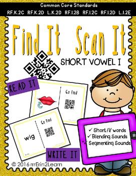 Short Vowel I QR Code Hunt