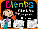 Blends Word Search: Fill-in-and-Find Phonics Puzzles