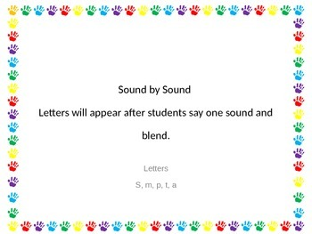 Blend Sound by Sound S, m, p, t, a, n Powerpoint