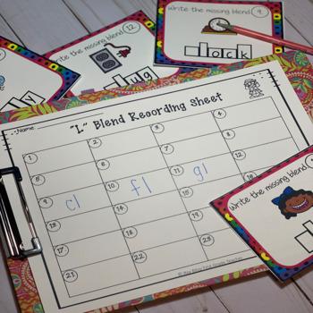 Blend Task Cards Bundle (Includes L, R and S blends)