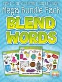 Blend Word Sets Clipart Mega Bundle Part 1 {Zip-A-Dee-Doo-Dah Designs}
