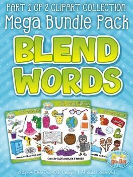 Blend Word Sets Part 1 Clipart Mega Bundle Pack — Includes