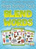 Blend Word Sets Clipart Mega Bundle Part 2 {Zip-A-Dee-Doo-Dah Designs}