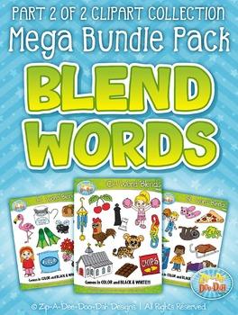 Blend Word Sets Part 2 Clipart Mega Bundle Pack — Includes