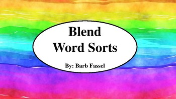 Blend Word Sorts Rainbow (l, r, and s blends)