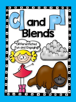 L Blends cl and pl - Word Work Activites!