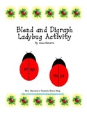 Blend and Diagraph Ladybug Activity