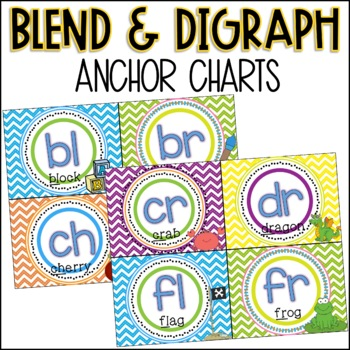 Blend and Digraph Anchor Charts - Chevron