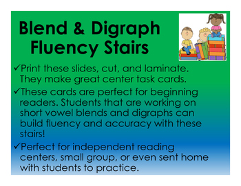 Blend and Digraph Fluency Stairs