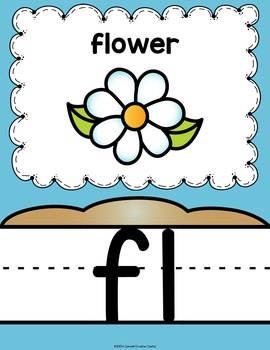 Blend and Digraph Posters - Ocean Decor
