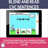 Blend and Read CVC Short Vowel Sentences | BOOM Cards ™