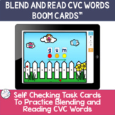 Blend and Read CVC Short Vowel Words | BOOM Cards ™