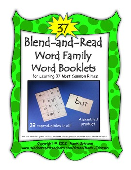 Blend and Read Word Family Word Booklets