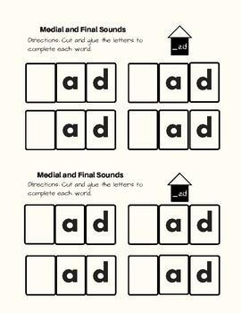 -Ad Word Family Kit  29 pages (Blend Seg CVC) Transitional K, K, 1st, 2nd