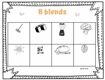 Blend and rime activity sheets