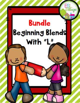 """Beginning Blends / Blends with """"l"""" BUNDLE {bl, cl, fl, gl, pl, sl}"""