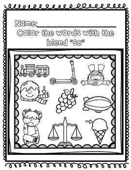 """Beginning Blends / Blends with """"s"""" BUNDLE {sc, sk, sm, sn, sp, st, sw}"""