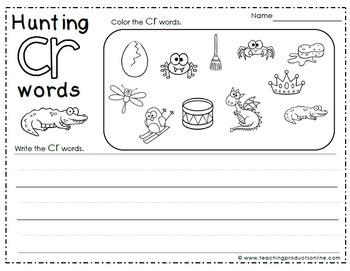 Consonant Blends CR Digraph