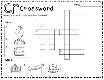Consonant Blend CR Digraph Free Sampler