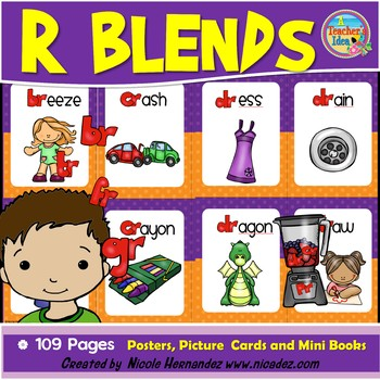 R Blends - {Posters, Picture Cards and Mini Books for Your Classroom}