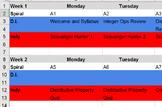 Blended Classroom Spreadsheet Planner