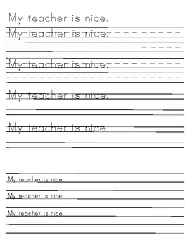 Blended Handwriting Practice sheets