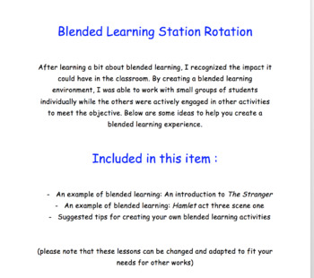 Blended Learning Examples and Suggestions