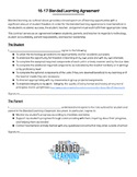 Blended Learning Expectations Agreement