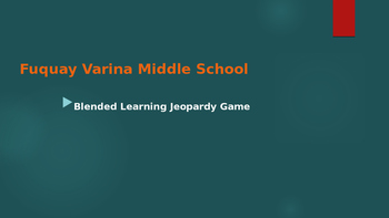 Blended Learning Jeopardy Game
