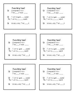 Blended Learning Reading Goal Squares