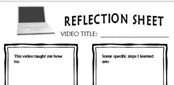 Blended Learning Reflection Sheet