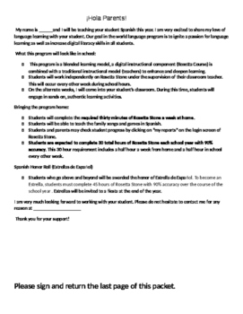 Blended Learning - Rosetta Stone - Introduction Letter and Troubleshooting