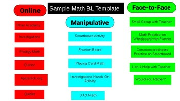 Blended Learning Schedule Template