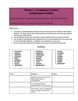 Blended Learning Station Rotations: Natural Disasters