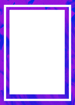 Blended Purple and Blue Borders, Clips, and Frames