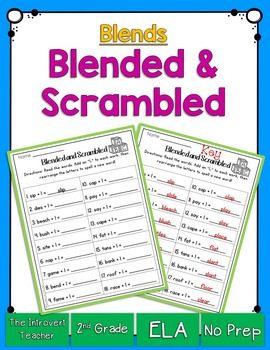 Blended & Scrambled! Consonant Blends Printable
