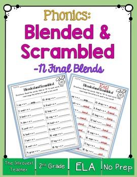 Blended & Scrambled! Final Consonant Blends Printable