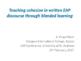 Blended learning and academic writing (cohesion)