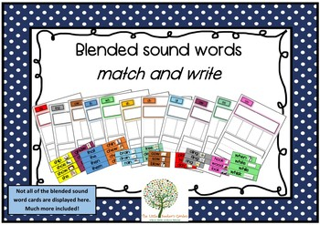Blended sound words match and write!