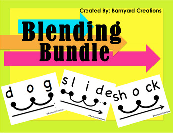 Blending Bundle (CVC Words, Digraphs, Blends)