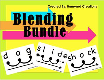 Blending Bundle (CVC Words, Digraphs, Blends, Silent E)