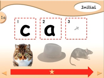 Blending CVC Mystery Words - Animated Step-by-Step Literacy - Regular