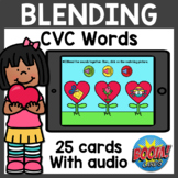 Blending CVC Words Boom Cards with Audio | Valentine's Day