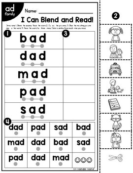 CVC Worksheets | Blending & Reading CVC Words by A Teachable Teacher