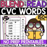 CVC Words Worksheets   Blending & Reading CVC Words